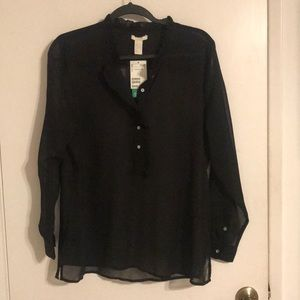 New H&M black blouse with detail
